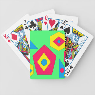 Abstract designs. poker deck