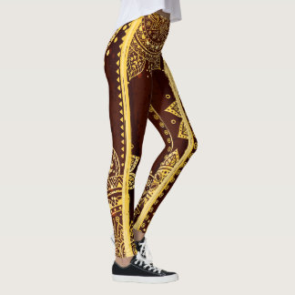 Abstract Designs Yellow Leggings