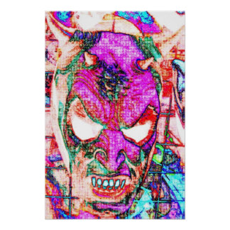 Abstract Devil Poster