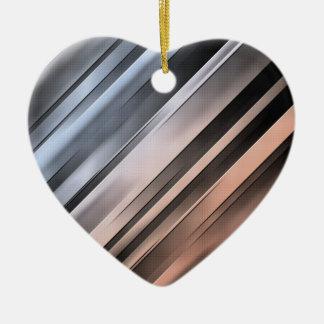 Abstract Diagonal Lines Ceramic Ornament
