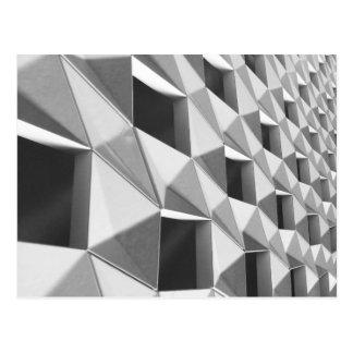Abstract Diagonal Pattern Design Postcard