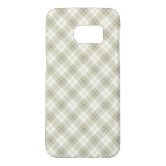 Abstract Diagonal Scottish Plaid Samsung Galaxy S7 Case
