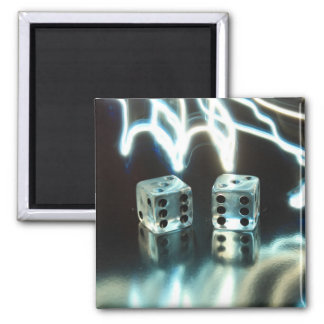 Abstract Dice 2 Square Magnet