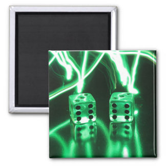 Abstract Dice Square Magnet