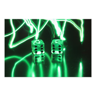 Abstract Dice Photo