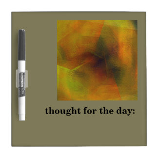 Abstract Digital Art Dry Erase Board