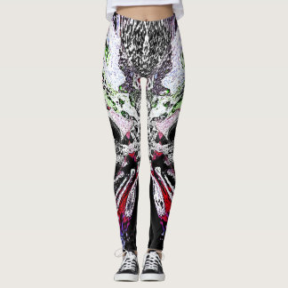 Abstract Digital Art Hidden Meaning Leggings