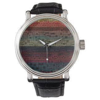 Abstract Digital Colorful Pattern Design Watch