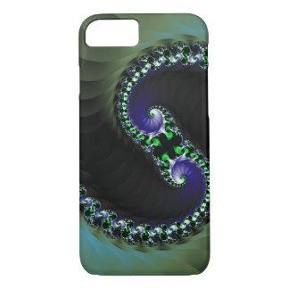 Abstract Digital Dark Colour Swirl iPhone 7 Case