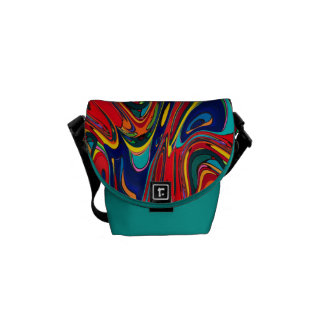 Abstract Digital Design Manipulated by Trevor Star Courier Bag