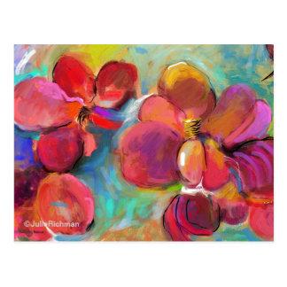 Abstract Digital Flowers   Postcard 6
