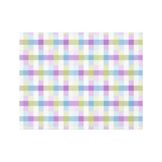Abstract Digital Plaid Canvas Print