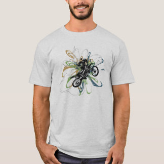 Abstract Dirt Bike Kids Shirts