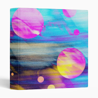 Abstract Disco Lights! 3 Ring Binders