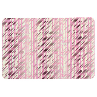 ABSTRACT DISTRESSED STRIPES, Lavender Purple Floor Mat