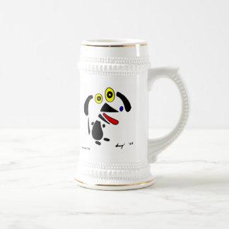 Abstract Dog Stein Coffee Mug