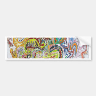 Abstract Doodle Bumper Stickers