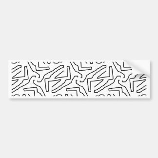 Abstract doodle pattern bumper sticker