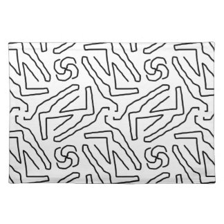 Abstract doodle pattern placemat