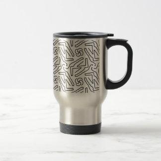 Abstract doodle pattern travel mug