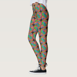 Abstract Doodling Leggings