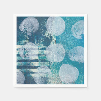 Abstract Dots Monoprint Paper Napkin
