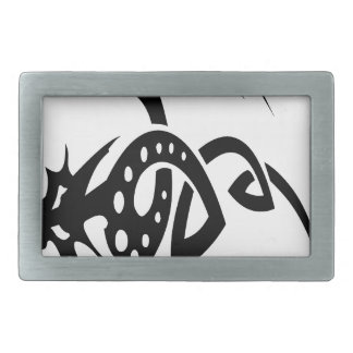 Abstract Dragon Designs Belt Buckle