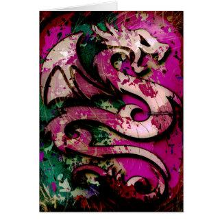 Abstract Dragon Greeting Card