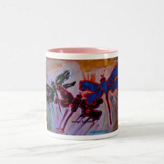 abstract dragonflies coffee mugs