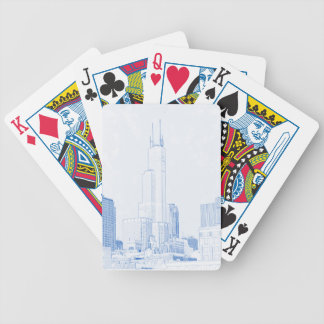 Abstract Drawing of Chicago No1 Bicycle Playing Cards