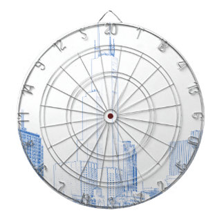Abstract Drawing of Chicago No1 Dartboard