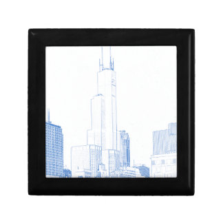 Abstract Drawing of Chicago No1 Gift Box