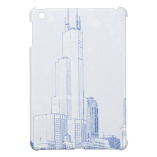 Abstract Drawing of Chicago No1 iPad Mini Case