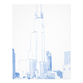 Abstract Drawing of Chicago No1 Letterhead Design