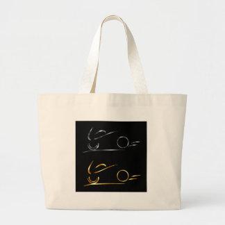 Abstract drawing of motorbike jumbo tote bag