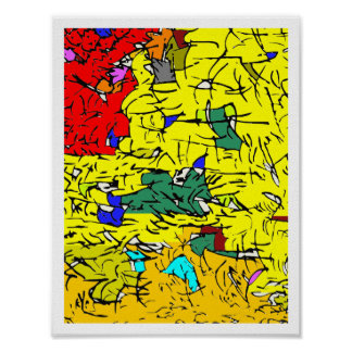 Abstract drawing poster