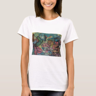 Abstract drawing under the sea and fish. T-Shirt