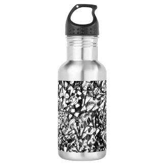 Abstract Drawing Water Bottle