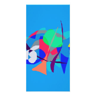 Abstract Dream Light Blue Photo Card