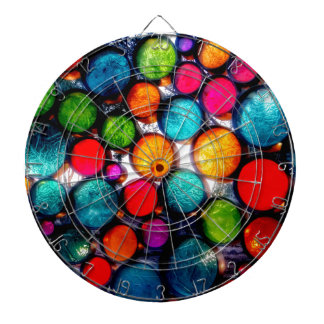 Abstract Droplets Dartboard