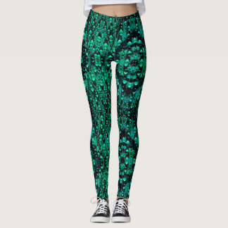 Abstract Droplets Pattern Leggings