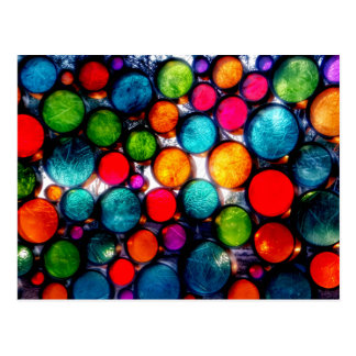 Abstract Droplets Postcard