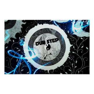 Abstract Dubstep Speaker Dub Step Poster