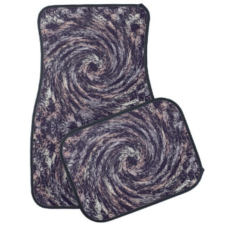 Abstract dynamic spiral texture. car mat