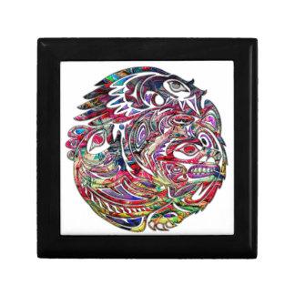 Abstract Eagle Bass and Bear Tribal Art Gift Box