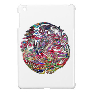 Abstract Eagle Bass and Bear Tribal Art iPad Mini Case