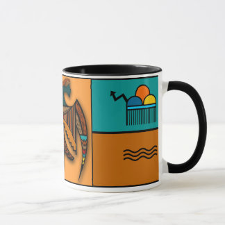 Abstract Eagle Mug