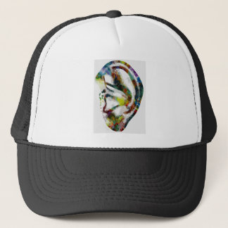 Abstract Ear Watercolour Print Trucker Hat