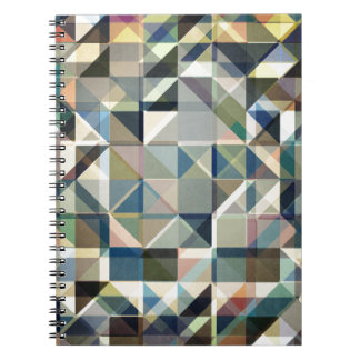 Abstract Earth Tone Grid Spiral Notebook