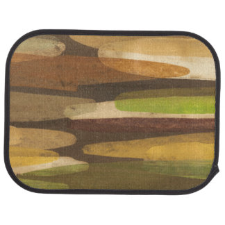 Abstract Earth Tone Landscape Car Mat